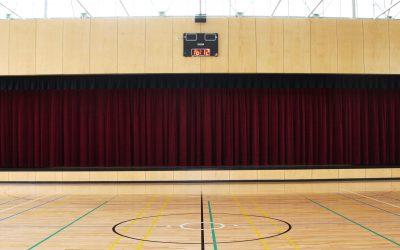 Motorised Stage Curtains for Multi-purpose School Hall in Brisbane