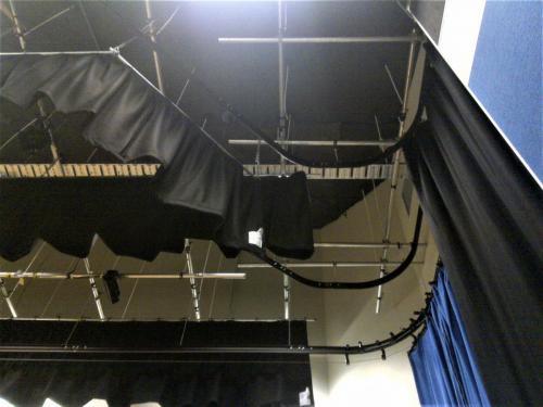 Custom Motorised Stage Drapes for Split Stage