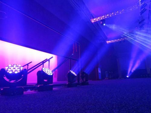 LED Movers & Haze Effect