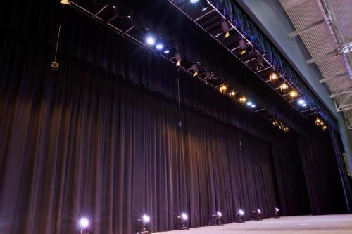 Stage Fitout featuring Stage Drapes & Lighting Grid