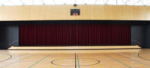 Motorised Verdi Velvet Stage Curtains for State of the Art Multipurpose Hall