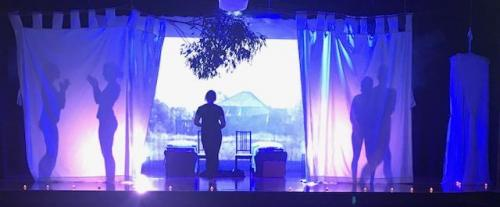 On-Stage Projection & LED Lights Setting the Scene