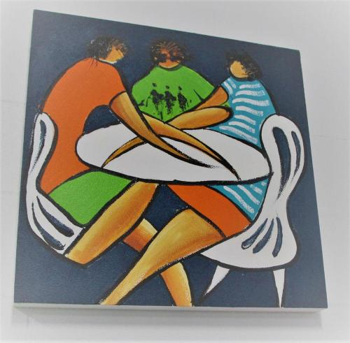 Paintable Acoustic Panel Art in Conference Room