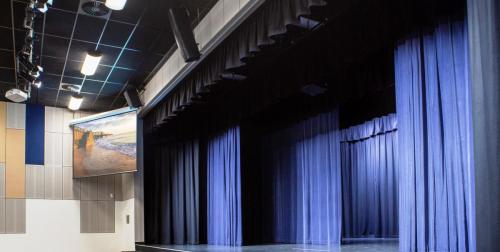 Full Fitout - Audio, Lighting, Projection, Cameras, Drapes, Extension Stage, Paging, Comms & Backstage Vision